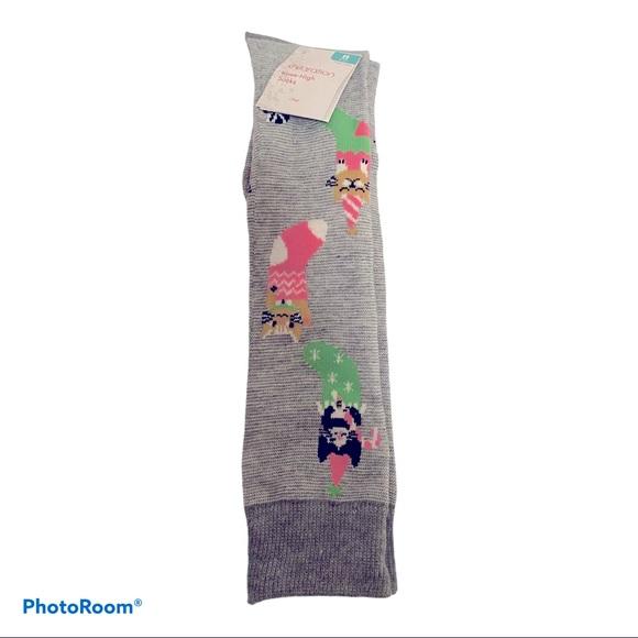 Women's knee high kitty socks